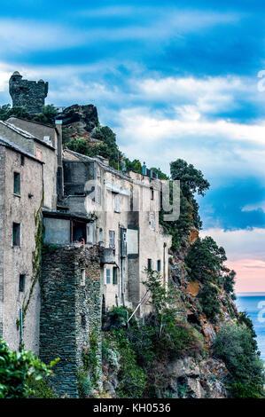 Europa, Frankreich, Korsika, Haute Corse 2 b, Cap Corse. nonza. - Stockfoto