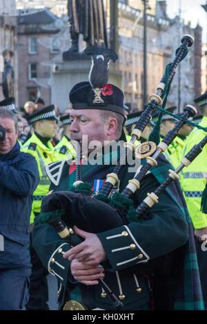 Glasgow, Schottland, Großbritannien. 12. November 2017. zwei Minuten stille Erinnerung Sonntag zu Mark am 11 beobachtet - Stockfoto