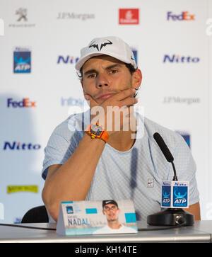 """London, Großbritannien. 13 Nov, 2017. Rafael """"Rafa"""" Nadal (Spanien) kündigt seinen Ruhestand von diesem Jahre atp - Stockfoto"""