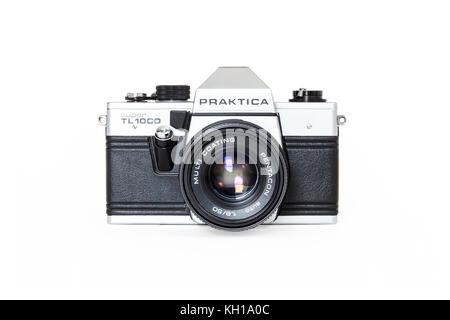 Praktica super tl mm film slr kamera mit mm objektiv