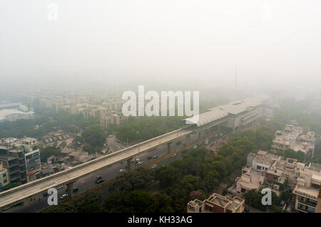 Über die Stadt Chennai, Delhi, Gurgaon Smog - Stockfoto