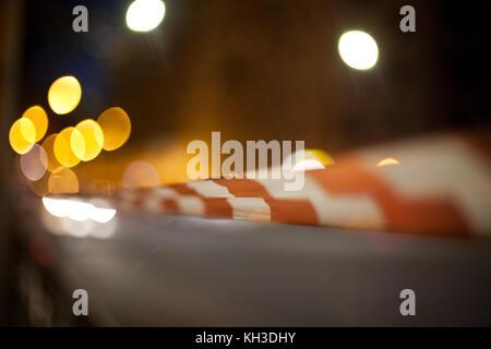 Rot und Weiß Tatort, Warnschild - Stockfoto