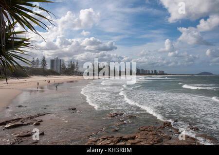 Strand von Alexandra Headland, Sunshine Coast, Queensland, Australien - Stockfoto