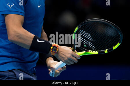 "London, Großbritannien. 13 Nov, 2017. Rafael ""Rafa"" Nadal (Spanien) der Marke T-Shirt, Richard Mille Rafael Nadal - Stockfoto"