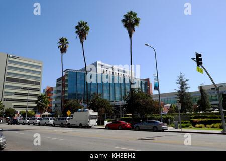 Sunset Boulevard Street View von (CHLA) Gebäude Children's Hospital Los Angeles, Kalifornien, USA KATHY DEWITT - Stockfoto