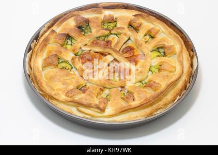 Hausgemachte Italienische Herzhaften Kuchen Zucchini Schinken