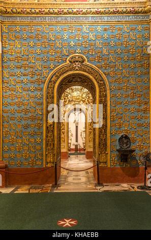 Innenansicht der Römisch-katholischen St. John's Co-kathedrale, Valletta, Malta - Stockfoto