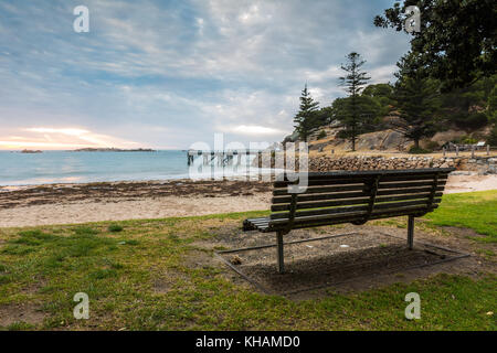 Der Port Elliot Jetty/Pier in Horseshoe Bay befindet sich auf der Fleurieu Peninsula. - Stockfoto