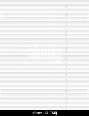 Weiße horizontale Jalousien Fenster Dekoration Interieur der Zimmer - Stockfoto