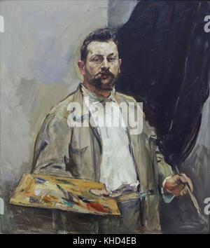"""Deutsche impressionistischen Malers Max Slevogt. Detail des Gemäldes elf - Porträt mit der Palette"""" (1906) von Deutschen - Stockfoto"""