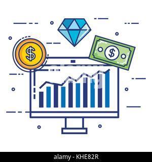 Fintech set Flachbild Symbole - Stockfoto