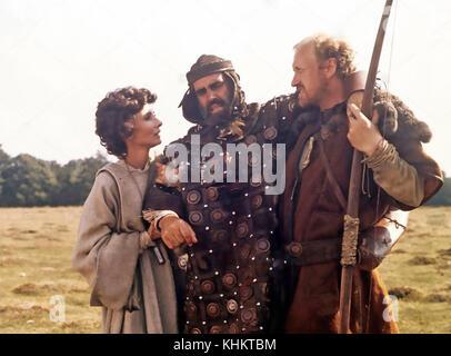 Robin und Marian 1976 Columbia Pictures Film mit Von links: Audrey Hepburn, Sean Connery, nicol Williamson - Stockfoto