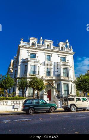 fassade des wohnhauses in kensington london england gro britannien vereinigtes k nigreich. Black Bedroom Furniture Sets. Home Design Ideas