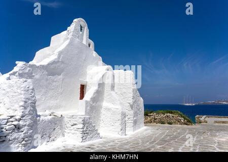 Kirche Panagia Paraportiani im Mykonos-Stadt, Mykonos, Kykladen, Ägäis, Griechenland - Stockfoto