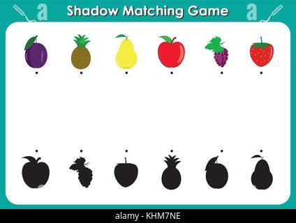 Vector Illustration von Shadow passende pädagogische Kinder spiel ...