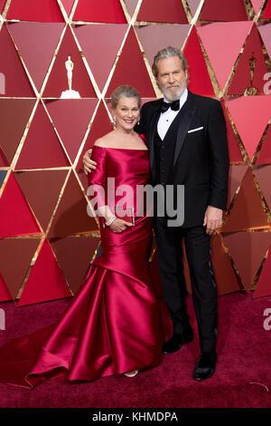 Hollywood, CA - 26. Februar: Jeff Bridges besucht die 89. jährlichen Academy Awards in Hollywood & Highland Center - Stockfoto