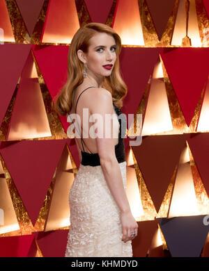 Hollywood, CA - 26. Februar: Emma Roberts die 89. jährlichen Academy Awards in Hollywood & Highland Center am 26. - Stockfoto