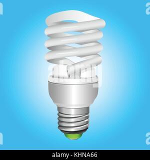 Leuchtstofflampen Energiesparen Glühbirne. Vector Illustration. - Stockfoto