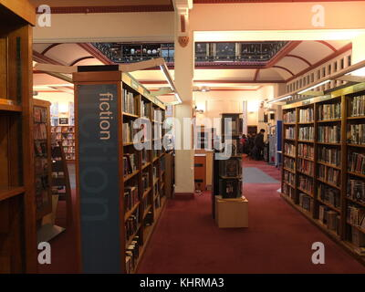 Historische Interieurs des Derby Central Library, im April 2018 zu ...