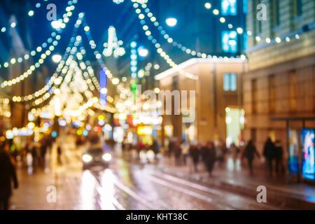 Neues Jahr boke Lichter weihnachten Christbaumschmuck und festliche Beleuchtung in Blau bokeh. Natürliche defokussierten - Stockfoto