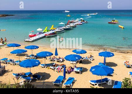 Fig Tree Bay, Protaras, Famaguta, Zypern. 14. Juni 2017. Credit: Tove Larsen/Alamy - Stockfoto