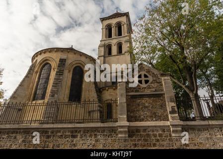 Paroisse saint-pierre de Montmartre Kirche Ende Oktober - Stockfoto