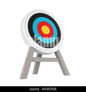 Bogenschießen target isoliert - Stockfoto