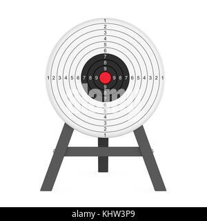 Target Shooting isoliert - Stockfoto
