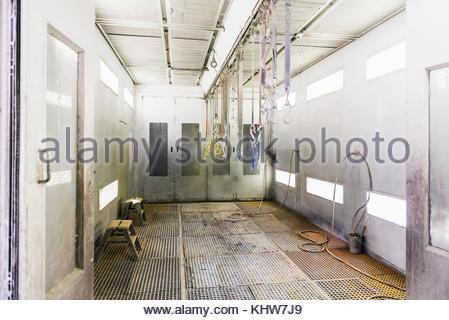 Zimmer mit Haken in der Factory - Stockfoto