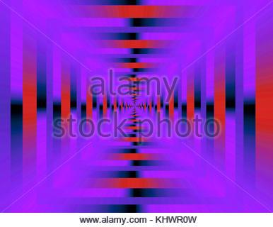 Optische Illusion tunnel Perspektive infinity Muster Abbildung Geometrie surreale - Stockfoto