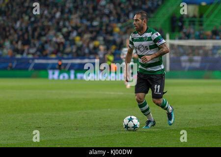 Lissabon, Portugal. 22 Nov, 2017. 22. November 2017. in Lissabon, Portugal. sporting ist mittelfeldspieler aus Brasilien - Stockfoto