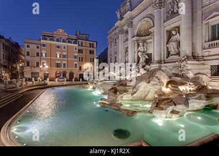 Tevi begleitet Brunnen Rom - Fontana di Trevi, Rom - Stockfoto