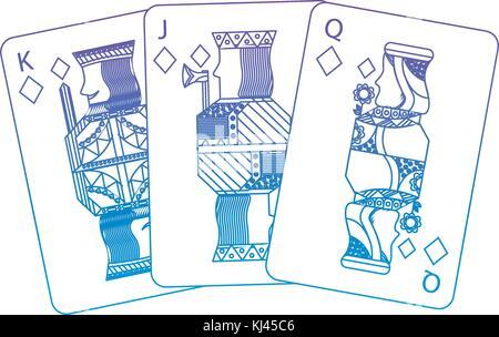 Diamanten Anzug französische Spielkarten zugehörige Symbol Symbol Bild - Stockfoto