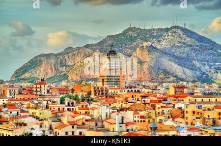 Palermo als vom Dach der Kathedrale gesehen - Sizilien - Stockfoto