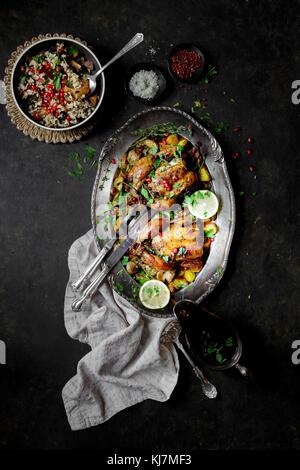 Hähnchen Abendessen - Stockfoto