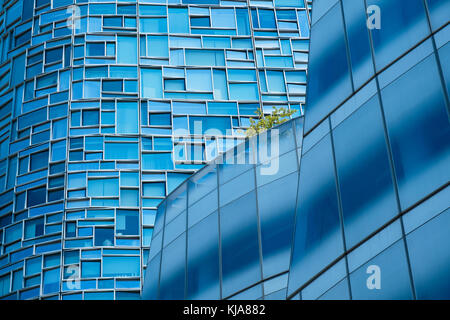 Detail vom Wolkenkratzer in New York. - Stockfoto