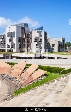 Gebäude des schottischen Parlaments in Edinburgh Schottland Edinburgh Schottisches Parlamentsgebäude Edinburgh Holyrood - Stockfoto