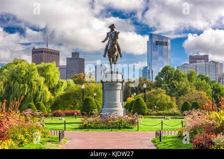 George Washington Monument in Public Garden in Boston, Massachusetts. - Stockfoto