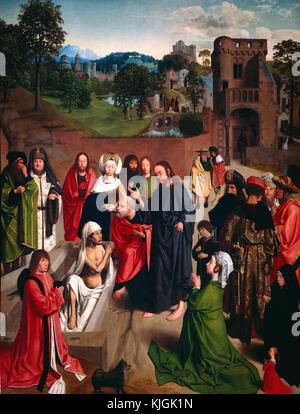Gerard de Saint Jean - Auferstehung des Lazarus Paris. Musée du Louvre - Stockfoto