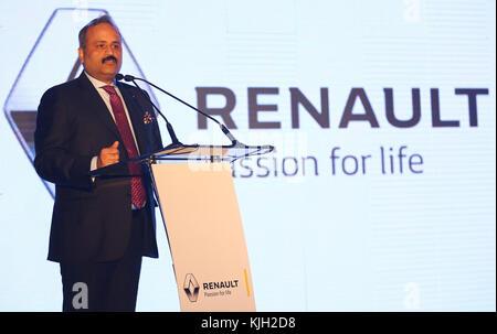 Colombo, Sri Lanka. 24 Nov, 2017. sumit Sawhney, Managing Director und Chief Executive Officer von Renault India - Stockfoto