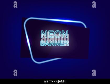 Neon leerer Text Banner - Stockfoto