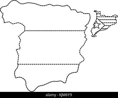 Gliederung, Karte von Spanien Stockfoto, Bild: 34054632 - Alamy