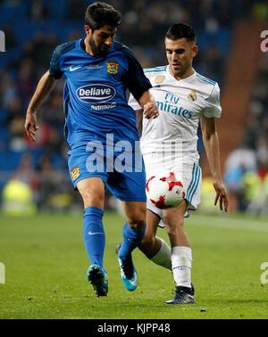 Madrid, Spanien. 28. November 2017. Bei einem Match Copa del Rey zwischen Real Madrid vs Getafe im Santiago Bernabeu - Stockfoto