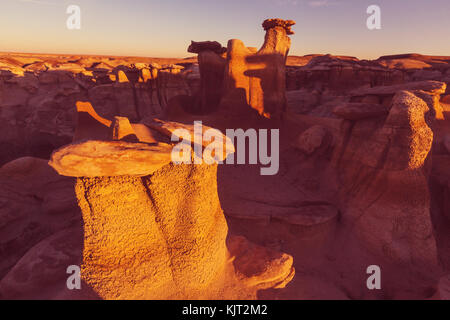 Bisti badlands, de-na-zin Wilderness Area, New Mexico, USA - Stockfoto