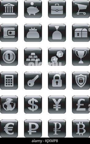 Icon Set zum Thema Geld - Stockfoto