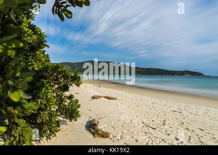 Foto in Ilha Grande, Brasilien, August 2017: Lange Belichtung Lopes Mendes Strand in Ilha Grande, südlich von Rio - Stockfoto