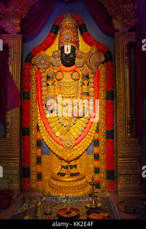 Herr tirupati balaji Idol, während ganapati Festival, Pune - Stockfoto