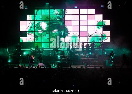 Brighton, uk. 27 Nov, 2017 Gorillaz im Konzert am Montag, den 27. November 2017 in Brighton Centre, Brighton. Credit: - Stockfoto