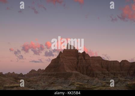 Cedar Pass bei Sonnenaufgang, Badlands National Park, Sd - Stockfoto