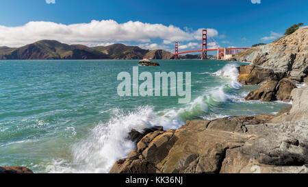 Golden Gate Bridge in San Francisco, Kalifornien - Stockfoto